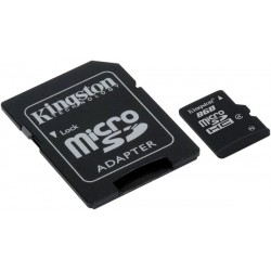 Карта памяти Kingston microSD 8 GB Class 4 (+ SD адаптер)