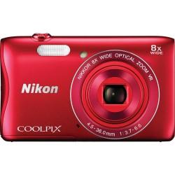 Фотоаппарат Nikon Coolpix S3700 Red (VNA822E1)
