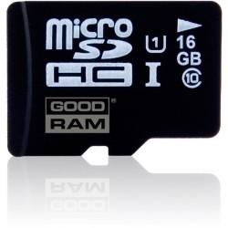 Карта памяти GOODRAM microSDHC 16 GB Class 10 UHS I + адаптер