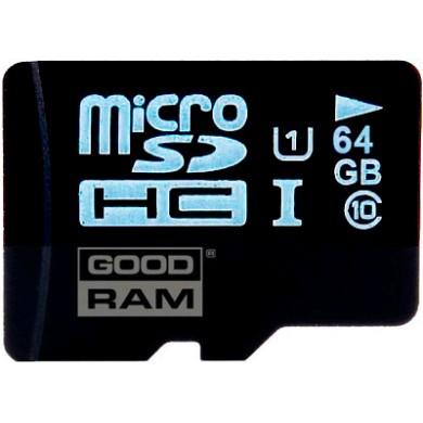 Карта памяти GOODRAM microSDXC 64 GB Class 10 UHS I + SD адаптер