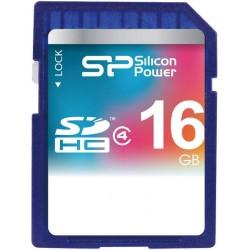 Карта памяти Silicon Power SDHC 16 GB Class 4