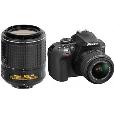 Nikon D3300 18-55VR II + 55-200VR II