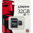 Карта памяти Kingston microSDHC 32 Gb UHS-I no ad U1 (R45, W10MB/s)