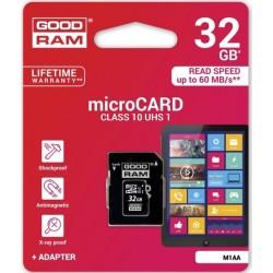Карта памяти Goodram microSDHC 32GB Class 10 UHS I + adapter