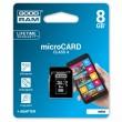 Карта памяти Goodram microSDHC 8GB Class 4 + adapter