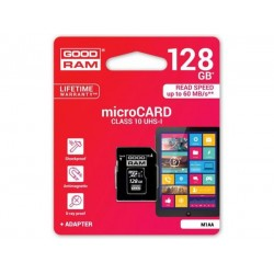 Карта памяти Goodram microSDXC 128GB Class 10 UHS I+ adapter