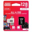 Карта памяти Goodram microSDXC 128GB Class 10 UHS I All in One +reader
