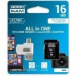 Карта памяти GOODRAM microSDHC 16GB Class 4 All in One + OTG reader