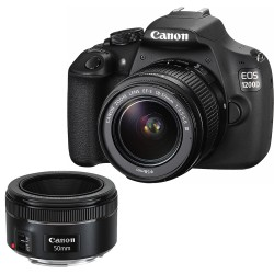 Canon EOS 1200D EF-S 18-55 DC III+ EF 50 1.8 STM