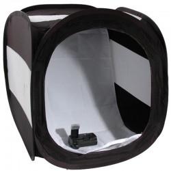 Лайт куб Mircopro LT-016 черный с белым фоном (80х80х80см)