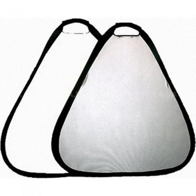 Отражатель треугольный Mircopro TR-052 silver-white 80см