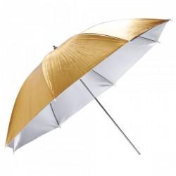 Зонт двусторонний Mircopro UB-005G 100 см (золото/серебро)