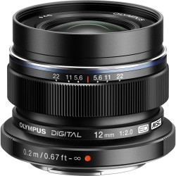 Объектив Olympus M.Zuiko Digital ED 12mm f/2 Lens (Black)