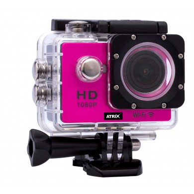 Экшн-камера ATRIX ProAction W9 Full HD (pink)