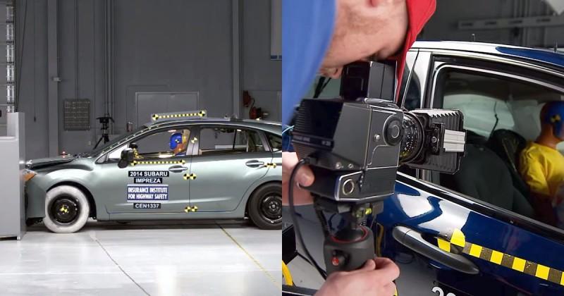 Взгляд изнутри: съемка автомобильных краш тестов