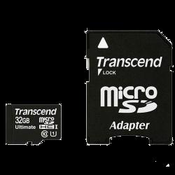 Карта памяти Transcend microSDHC 32GB Class 10 UHS-I UltimateX600 + ad