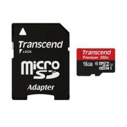 Карта памяти Transcend microSDHC 16 GB Class 10 UHS-I Premium (+ адаптер)