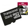 Карта памяти Transcend microSDHC 32 GB Class 10 + SD адаптер