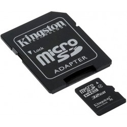 Карта памяти Kingston microSD 32 GB Class 4 + SD адаптер