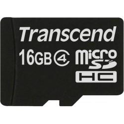 Карта памяти Transcend microSDHC 16 GB Class 4