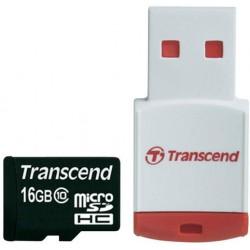 Карта памяти Transcend microSDHC 16 GB Class 10 (+ RDP3 Card Reader)
