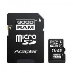 Карта памяти GOODRAM microSDHC 16 GB Class 4 + адаптер