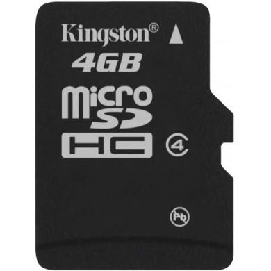 Карта памяти Kingston microSD 4 GB Class 4
