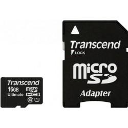 Карта памяти Transcend microSDHC 16 GB Class 10 UHS-I Ultimate X600 + адаптер
