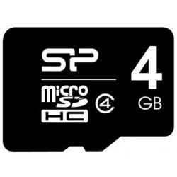 Карта памяти Silicon Power microSDHC 4 GB Class 4