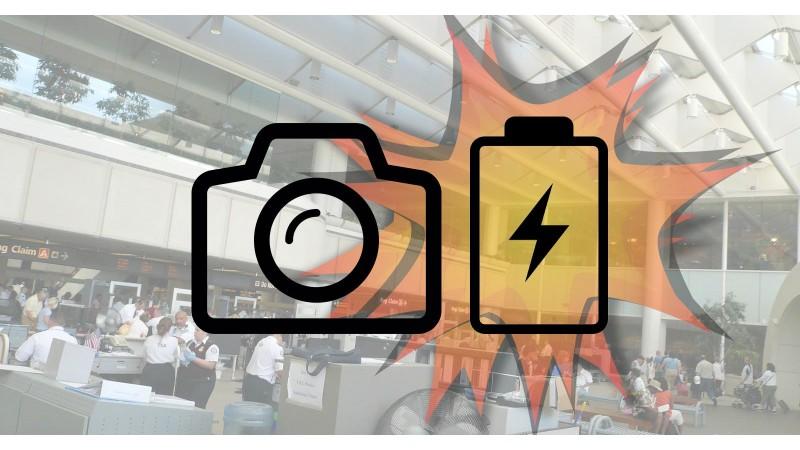 Аккумулятор камеры взорвался в аеропорту, вызвав панику