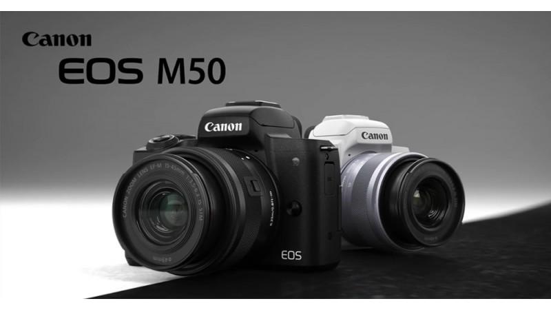 Компания Canon представила EOS M50, свою первую беззеркальную 4K камеру