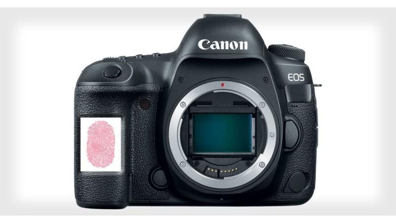 Canon может добавить сканер отпечатка пальца к своим камерам и объективам