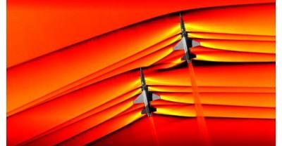 NASA - Первые фотографии взаимодействия сверхзвуковых реактивных ударных волн