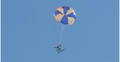 Первый сертифицированный парашют для дронов что позволяет официально летать над скоплением людей