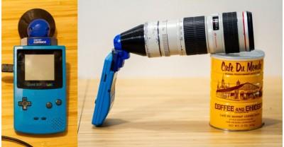 Камера Game Boy и объектив Canon EF 70-200, а также то, что из этого вышло!