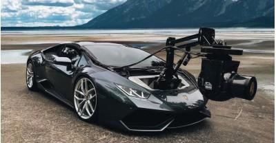 Этот Lamborghini Huracán - самый быстрый в мире автомобиль-операторский кран