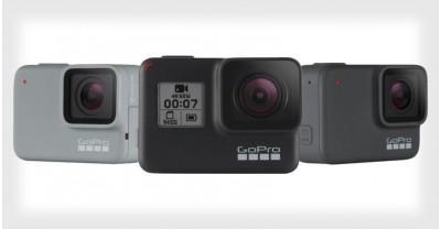 GoPro представила новые камеры HERO7 Black, Silver и White