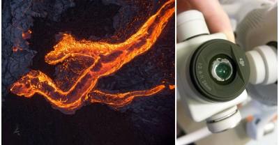 Фотограф расплавил свой дрон снимая лаву