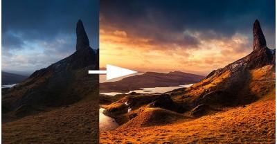 Как драматически формировать свет пейзажной фотографии в Lightroom